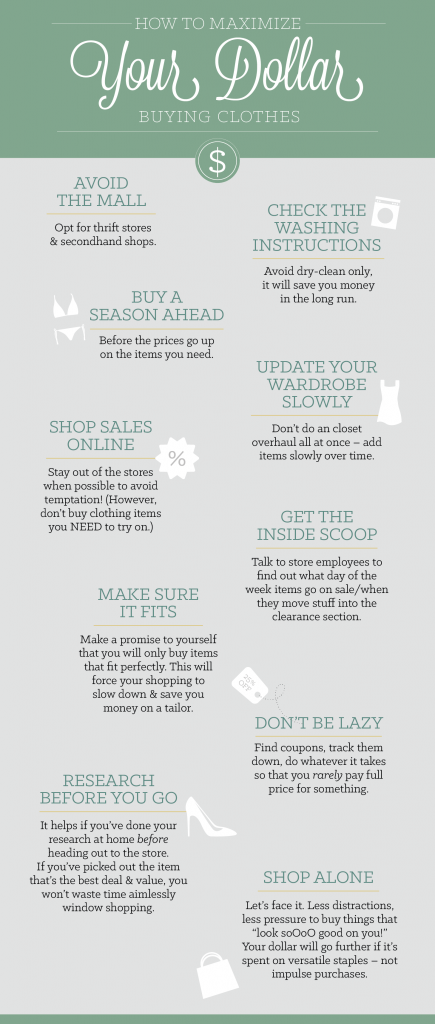 Saving Money On Clothing Infographic-01