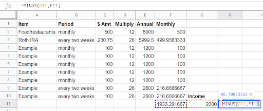 How I Use Excel Formulas To Make Super Quick Changes To My Budget